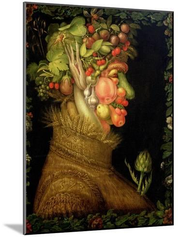 Summer, 1573-Giuseppe Arcimboldo-Mounted Giclee Print