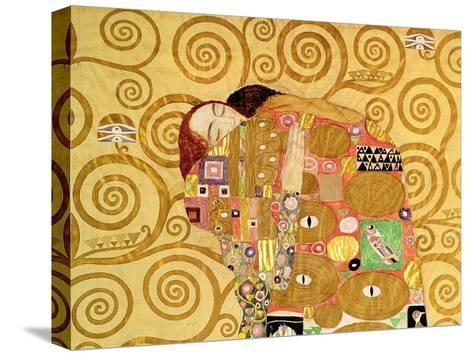 Fulfillment, Stoclet Frieze, c.1909 (detail)-Gustav Klimt-Stretched Canvas Print