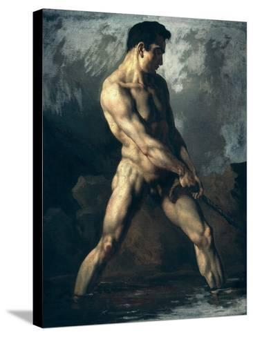Study of a Male Nude-Th?odore G?ricault-Stretched Canvas Print