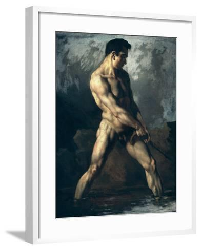 Study of a Male Nude-Th?odore G?ricault-Framed Art Print