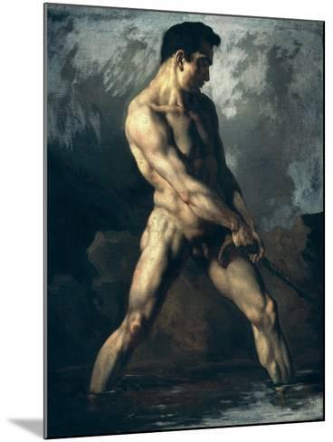 Study of a Male Nude-Th?odore G?ricault-Mounted Giclee Print