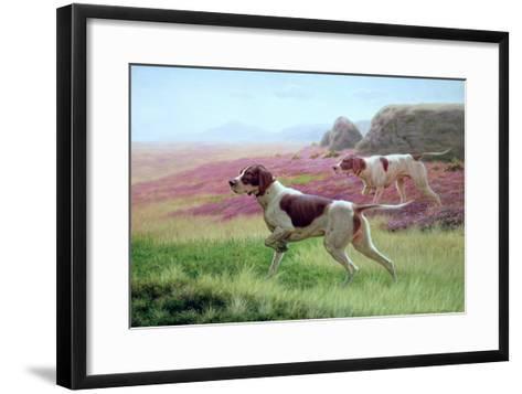 Pointers in a Landscape-Harrington Bird-Framed Art Print