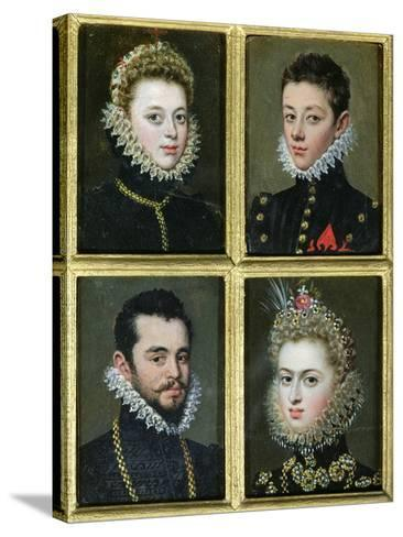 Portrait of Two Men and Two Women-Alonso Sanchez Coello-Stretched Canvas Print