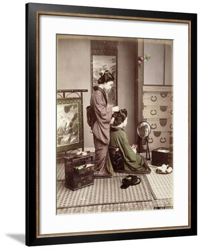 Hairdressing, Japan, circa 1880-Kusakabe Kimbei-Framed Art Print