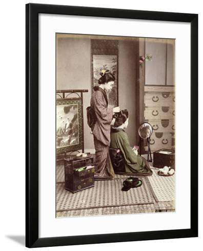 Hairdressing, Japan, circa 1880-Kusakabe Kimbei-Framed Art Print