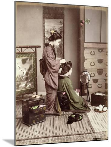 Hairdressing, Japan, circa 1880-Kusakabe Kimbei-Mounted Giclee Print