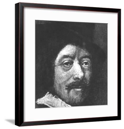 Self Portrait-Frans Hals-Framed Art Print