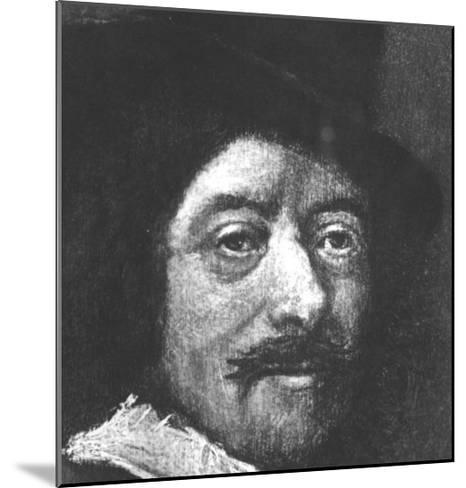 Self Portrait-Frans Hals-Mounted Giclee Print