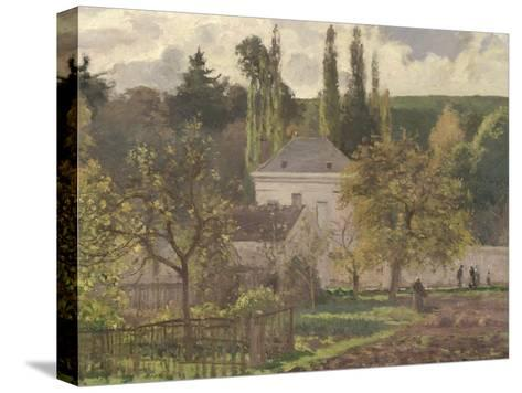 House in the Hermitage, Pontoise, 1873-Camille Pissarro-Stretched Canvas Print