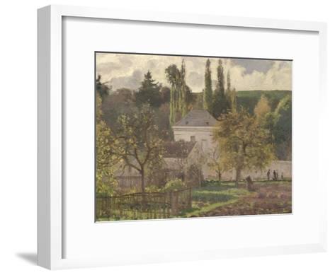 House in the Hermitage, Pontoise, 1873-Camille Pissarro-Framed Art Print