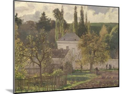 House in the Hermitage, Pontoise, 1873-Camille Pissarro-Mounted Giclee Print