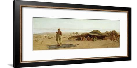 Evening Prayer in the West, 1872-Frederick Goodall-Framed Art Print