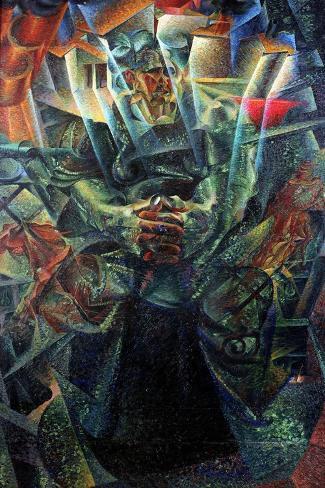 Materia, 1912-Umberto Boccioni-Stretched Canvas Print