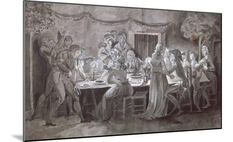 An Evening Wedding Meal-Jacques Bertaux-Mounted Giclee Print