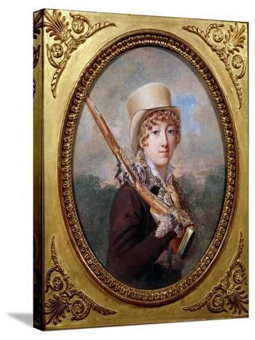 Natalie de Laborde de Mereville, Comtesse Charles de Noailles, in the Park at Mereville, circa 1805- Dutailly-Stretched Canvas Print