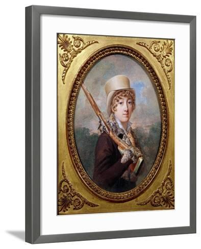 Natalie de Laborde de Mereville, Comtesse Charles de Noailles, in the Park at Mereville, circa 1805- Dutailly-Framed Art Print