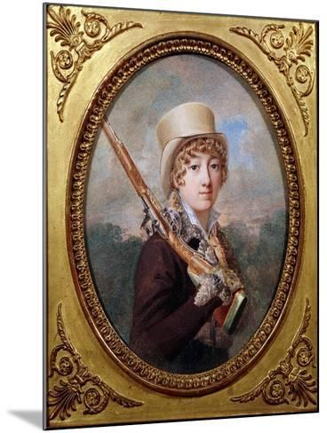 Natalie de Laborde de Mereville, Comtesse Charles de Noailles, in the Park at Mereville, circa 1805- Dutailly-Mounted Giclee Print