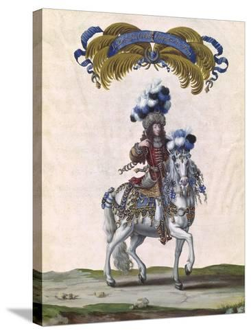 The Prince of Conde as the Emperor of Turkey-Israel Silvestre The Younger-Stretched Canvas Print