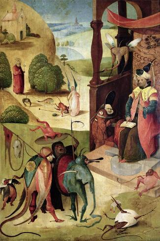 St.James and the Magician-Hieronymus Bosch-Stretched Canvas Print
