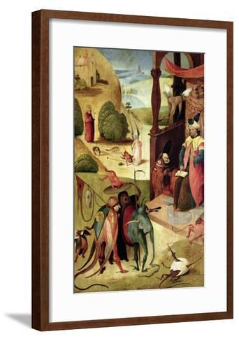 St.James and the Magician-Hieronymus Bosch-Framed Art Print