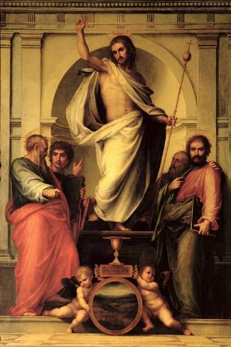 The Resurrection of Christ-Fra Bartolommeo-Stretched Canvas Print