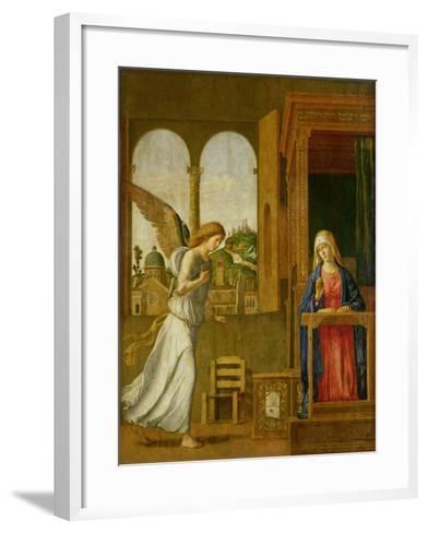 The Annunciation, 1495-Giovanni Battista Cima Da Conegliano-Framed Art Print