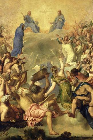 The Holy Trinity-Titian (Tiziano Vecelli)-Stretched Canvas Print