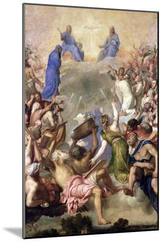 The Holy Trinity-Titian (Tiziano Vecelli)-Mounted Giclee Print