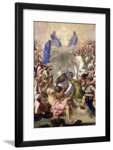 The Holy Trinity-Titian (Tiziano Vecelli)-Framed Art Print