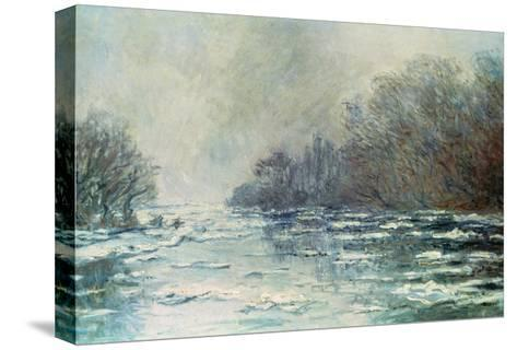 The Break up at Vetheuil, circa 1883-Claude Monet-Stretched Canvas Print