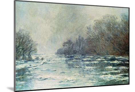 The Break up at Vetheuil, circa 1883-Claude Monet-Mounted Giclee Print
