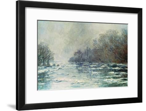 The Break up at Vetheuil, circa 1883-Claude Monet-Framed Art Print