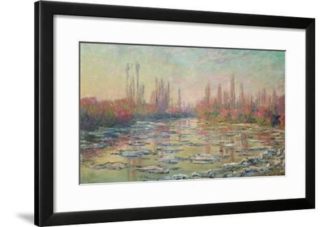 The Thaw on the Seine, Near Vetheuil, 1880-Claude Monet-Framed Art Print