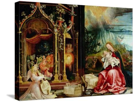 Nativity and Concert of Angels from the Isenheim Altarpiece, Central Panel-Matthias Gr?newald-Stretched Canvas Print