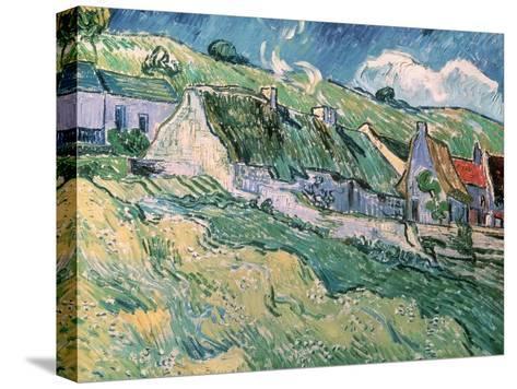 Cottages at Auvers-Sur-Oise, c.1890-Vincent van Gogh-Stretched Canvas Print