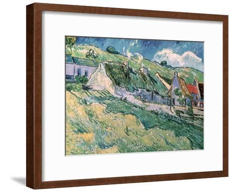 Cottages at Auvers-Sur-Oise, c.1890-Vincent van Gogh-Framed Art Print