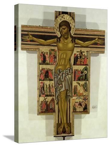 Crucifixion with Stories of the Passion, School of Lucca--Stretched Canvas Print