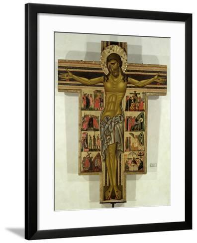 Crucifixion with Stories of the Passion, School of Lucca--Framed Art Print