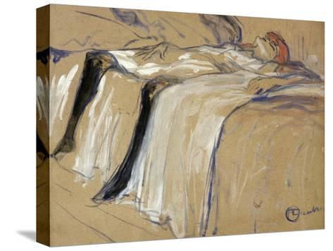 "Woman Lying on Her Back - Lassitude, Study for ""Elles"", 1896-Henri de Toulouse-Lautrec-Stretched Canvas Print"