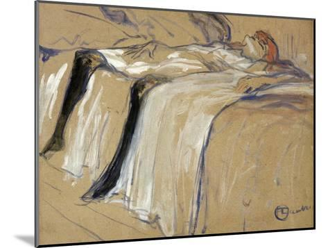 """Woman Lying on Her Back - Lassitude, Study for """"Elles"""", 1896-Henri de Toulouse-Lautrec-Mounted Giclee Print"""