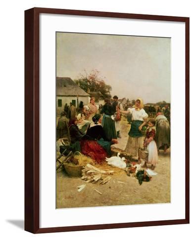 The Poultry Market, 1885-Lajos Deak Ebner-Framed Art Print