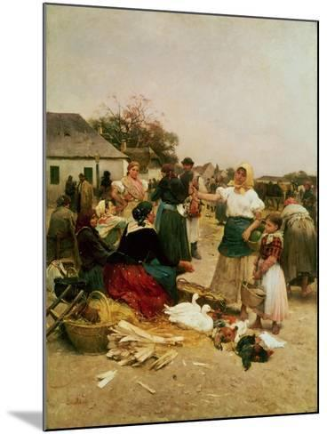 The Poultry Market, 1885-Lajos Deak Ebner-Mounted Giclee Print