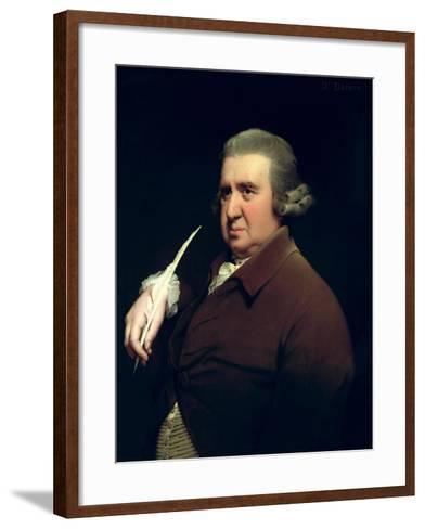 Portrait of Dr Erasmus Darwin Scientist, Inventor and Poet, Grandfather of Charles Darwin, 1792-93-Joseph Wright of Derby-Framed Art Print