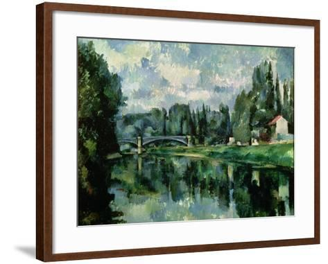 The Banks of the Marne at Creteil, circa 1888-Paul C?zanne-Framed Art Print