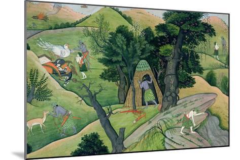 "Rama and Lakshmana Wandering in Search of Sita, from the ""Ramayana"", Kangra, Himachal Pradesh, 1780--Mounted Giclee Print"