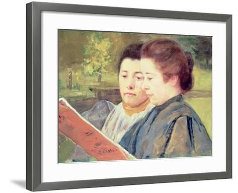 Women Reading-Mary Cassatt-Framed Art Print