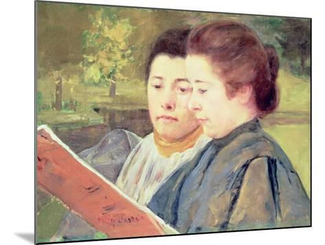 Women Reading-Mary Cassatt-Mounted Giclee Print