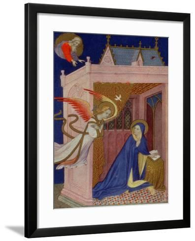 Hours of Notre Dame: Matins, the Annunciation, French, by Jacquemart de Hesdin--Framed Art Print
