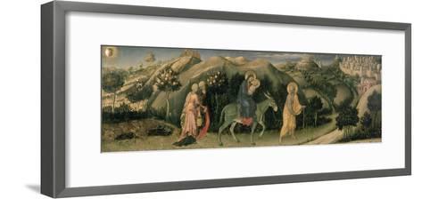 Adoration of the Magi Altarpiece; Central Predella Panel Depicting the Flight into Egypt, 1423-Gentile Da Fabriano-Framed Art Print