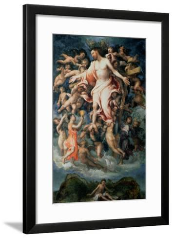 Angel Collecting Blood from the Wounds of Christ, 1543-Lorenzo Lotto-Framed Art Print